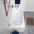 Measurements for Mercury straight bath 1500x700 side and birds-eye view