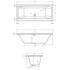 Vernwy 1700x750 Double Ended Whirlpool Bath - 23-296