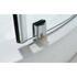 BC Shower Quadrant chrome square rollers