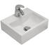 White Wall Hung Basin with Diamond Mini Chrome Tap