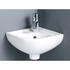White Corner 1-Tap Hole Basin with Chrome Basin Mono Tap