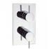 Elite Thermostatic Shower Valve Portrait Recessed Into Wall Chrome Design