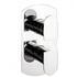 Modest Thermostatic Shower Valve Portrait Chrome Design for Contemporary Bathroom