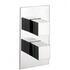 Water Square Thermostatic Shower Valve Portrait Rectangle Contemporary Bathroom Design