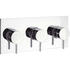 Kai Lever Thermostatic Shower Valve with 3 Control System Landscape Design and Chrome Finish