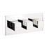 Water Sq Thermostatic Shower Valve-3 Way Div LAnd rectangle Bathroom