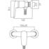 Line Drawing showing dimensions of Vado Chelsea Manual Shower Valve