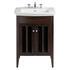 Heritage Vanity Unit And Blenheim Basin Walnut curved Modern and Stylish Bathroom Accessory