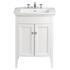 Classic Vanity Unit & Blenheim Basin White Ash curved Ellegant Bathroom and Cloakroom