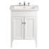 Classic Vanity Unit & Blenheim Basin White Ash curved Ellegant Bathroom and Cloakroom
