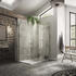 NWCC1590TB Walk-in Boutique Corner Contemporary Design Bathroom Shower Enclosure