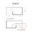 NWSC1580TBH Boutique Corner Walk In Shower Enclosure - 9090