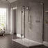NWST1580TBH Boutique 3 Sided Walk In Shower Enclosure for Modern Bathroom