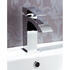 Modern Contemporary Chrome Standard Bathroom Basin Tap With A Lever Handle