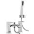 inspirational Modern CHROME standard bath mixer tap with shower lever Handle