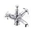 Anglesey Basin Mixer, with cross head handles, with high central indice with click clack waste