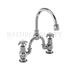 Anglesey Two tap hole arch mixer with curved spout (200mm centres)