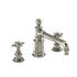 Traditional NICKEL spout 3 Hole Basin Mixer Taps With a cross head Handle