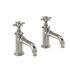 Traditional NICKEL standard Twin Basin Taps (Pairs of taps) With a cross head Handle