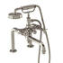 Edwardian Traditional NICKEL spout bath mixer tap with shower attachement cross head Handle
