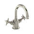 NICKEL standard 3 Hole Basin Mixer Taps With a cross head Handle