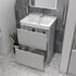 Handless Vanity Unit with Deep Drawers