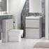 Modern Grey Bathroom Furniture Vanity Unit with Storage