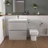 Bathroom Cloakroom Suite in Pearl Grey