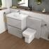 Grey Bathroom Suite comes with Vanity Unit, Basin and Back to wall Unit