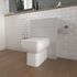 back to wall unit in grey with close coupled Toilet