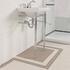 Astoria Deco Cloak Basin 520 White 1TH With Cloak Basin Stand inc Towel Rack Rectangle Contemporary