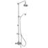 Avenbury Exposed Bathroom Shower with Deluxe Fixed Riser Kit & Divert Round Head