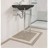 Astoria Deco Cloak Basin 520mm Black 2TH With Cloak Basin Stand inc Towel Rack rectangle  High Quality
