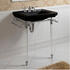 Astoria Deco Hardwick Basin 640mm Black 2TH With Basin Stand rectangle  High Quality