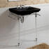 Astoria Deco Hardwick with Astoria deco Basin 640mm Black 3TH and  Basin Stand rectangle