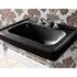Large Basin 700mm Black With Etoile Harwick Basin StAnd polished Nickel rectangle
