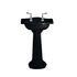 Drift Small Traditional Bathroom Wash Basin 540mm Black With Full Pedestal