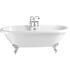 Baby Oban Freestanding Round Acrylic Bath 1495x630 Including Feet