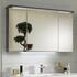 Balto 1200 Mirror Storage Cabinet 3 Doors Including Illuminated Canopy and Socket