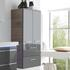 Balto Wall Hung Double Bathroom Storage Cabinet 2 Doors 2 Drawers