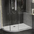 Room scene showing Left Hand offset quadrant anti-slip safety shower tray low profile