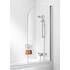 Bath Screen Silver Curved D Shape Modern Bathroom Accessory