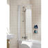 Bathscreen Silver Framed High Quality Bathroom Single Square Screen