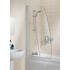 Bathscreen Silver Sculpted High Quality Bathroom Sail Screen