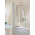 Bathscreen Silver Sculpted High Quality Bathroom Sail Screen
