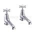 "Birkenhead Basin tap 5"" pair of crosshead taps"