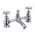 Birkenhead Two tap hole bridge mixer with swivelling spout with plug and chain waste