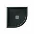 Aqualavo Quadrant Shower Tray Black Slate Effect Slimline - 179242