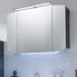 Cassca Bathroom Mirror Unit with Top Light 3 Doors with Power Socket