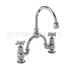 Claremont Two tap hole arch mixer black indice with curved spout (250mm centres)